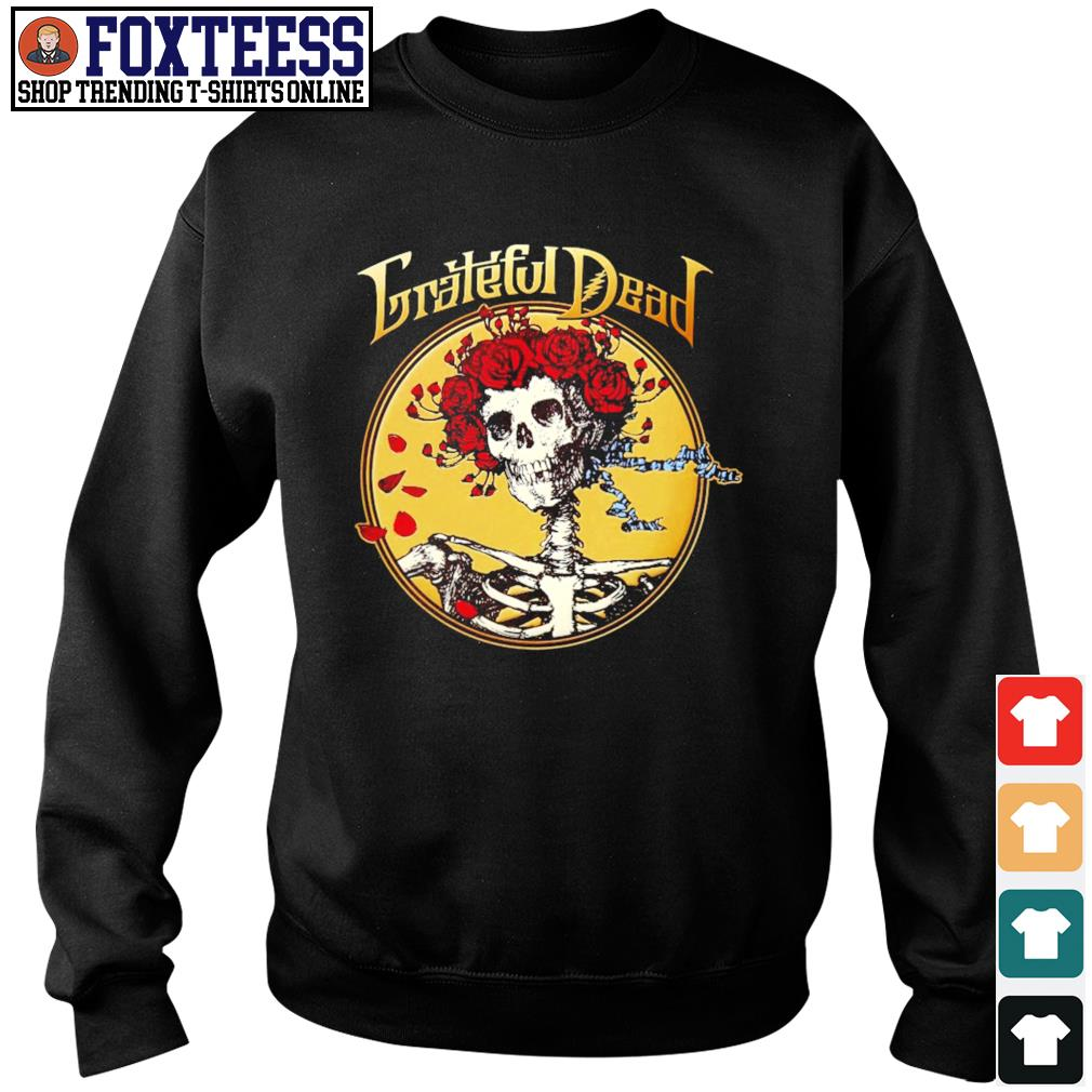Grateful dead skull rose s sweater