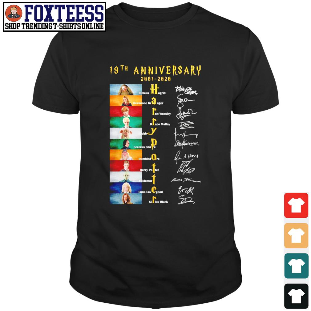 Harry potter 19th anniversary 2001 2020 signature shirt