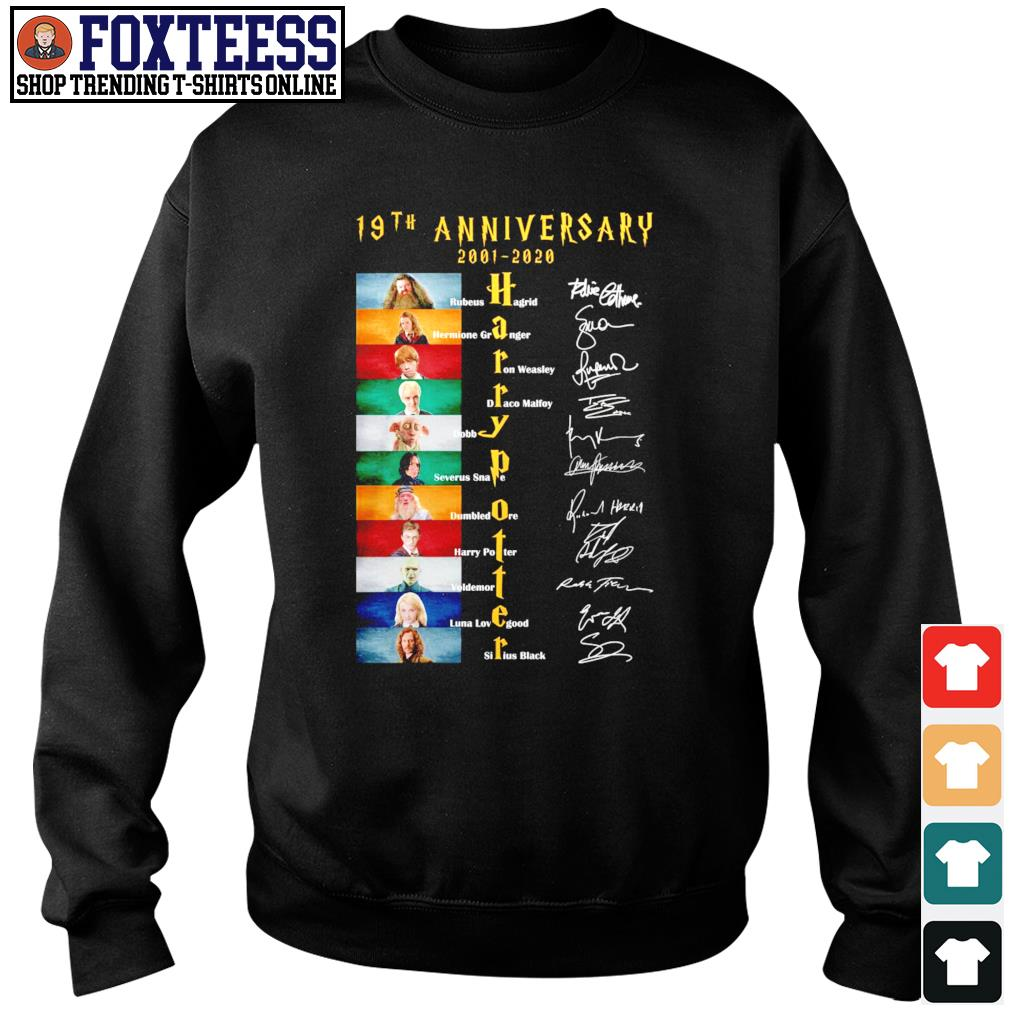 Harry potter 19th anniversary 2001 2020 signature s sweater