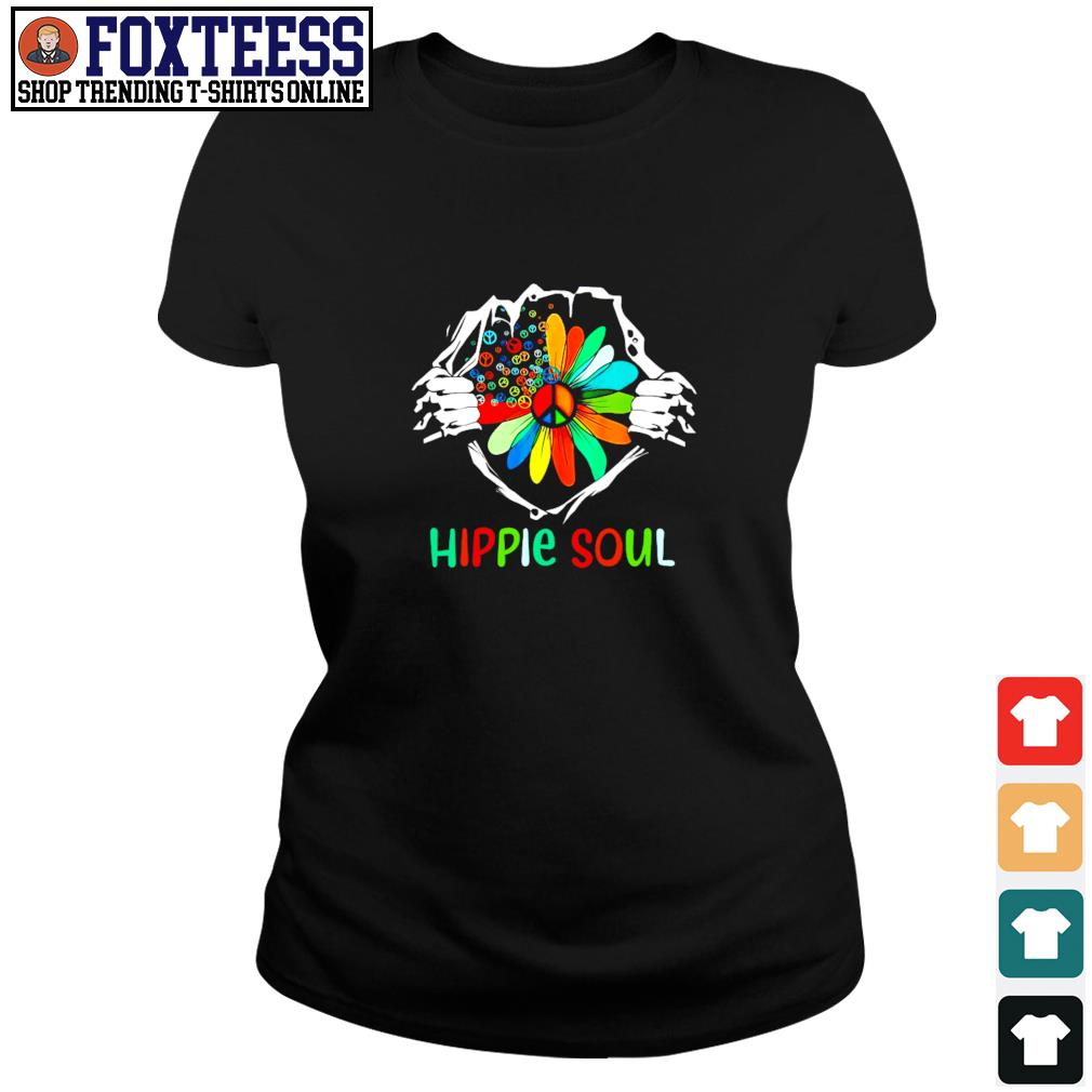 Hippie soul in my heart s ladies-tee