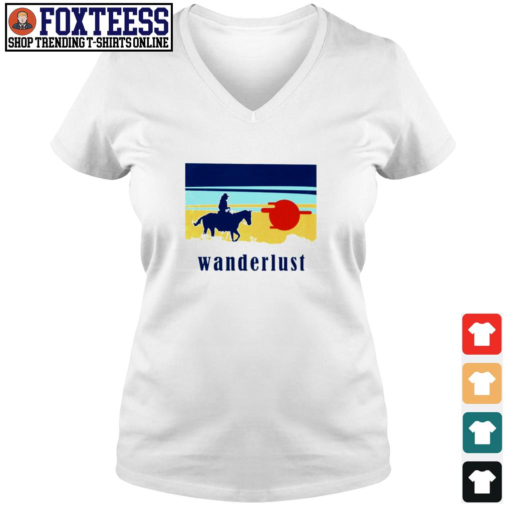 Horse wanderlust sunshine s v-neck t-shirt