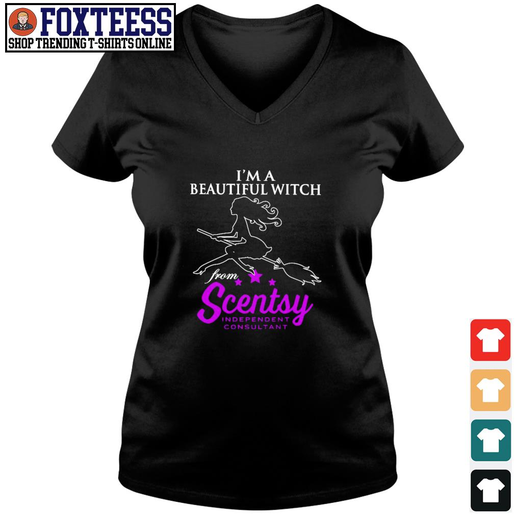 I'm a beautiful witch from scentsy independent consultant s v-neck t-shirt