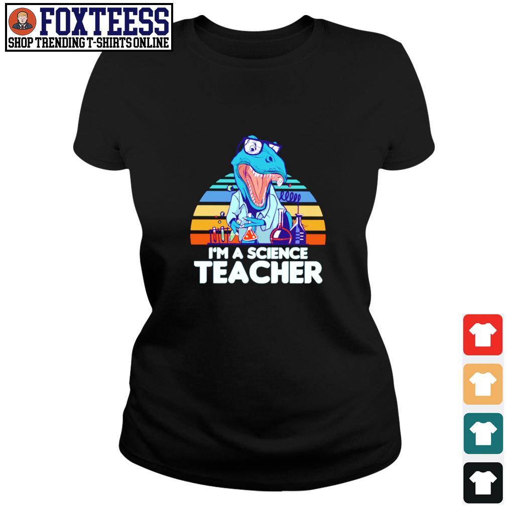I'm a science teacher dinosaurus vintage s ladies-tee
