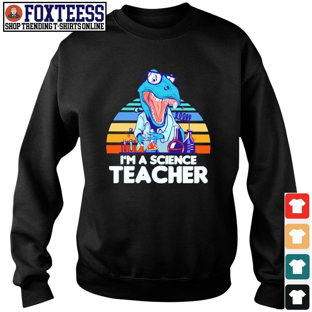I'm a science teacher dinosaurus vintage s sweater