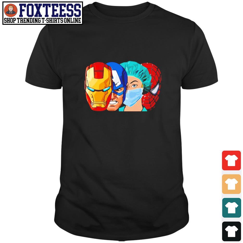 Iron man captain america nurse spider man avenger shirt