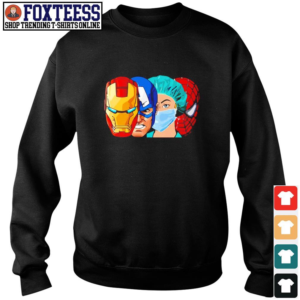 Iron man captain america nurse spider man avenger s sweater