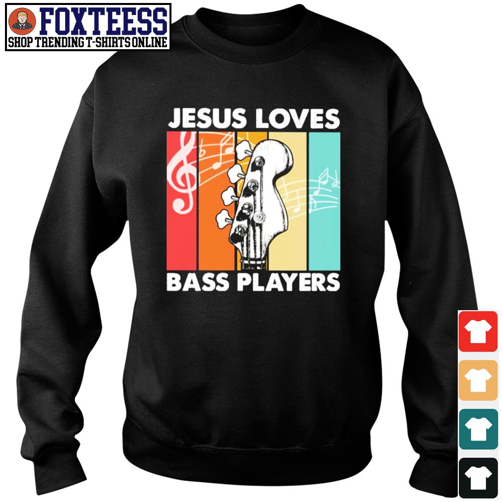 Jesus loves bass players vintage s sweater