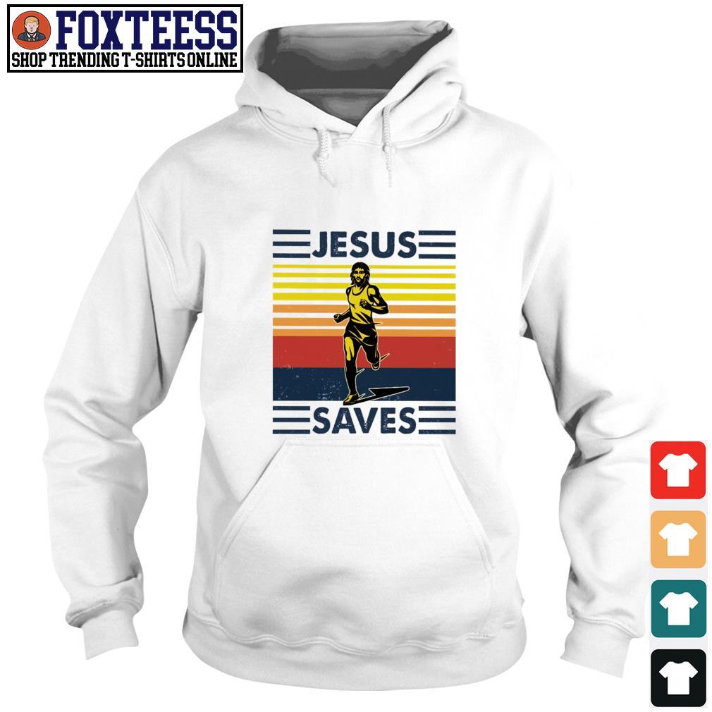 Jesus saves athletes vintage s hoodie