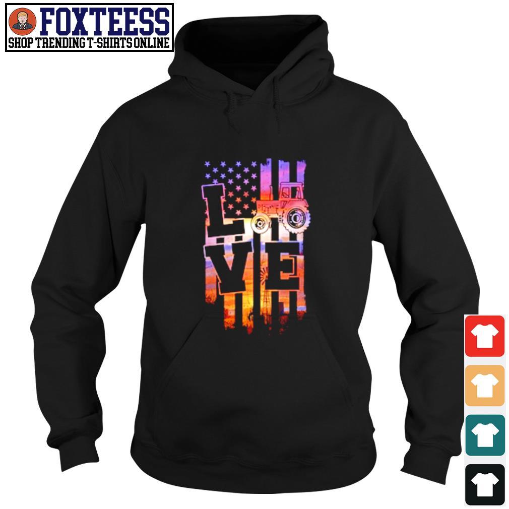 Love american flag s hoodie
