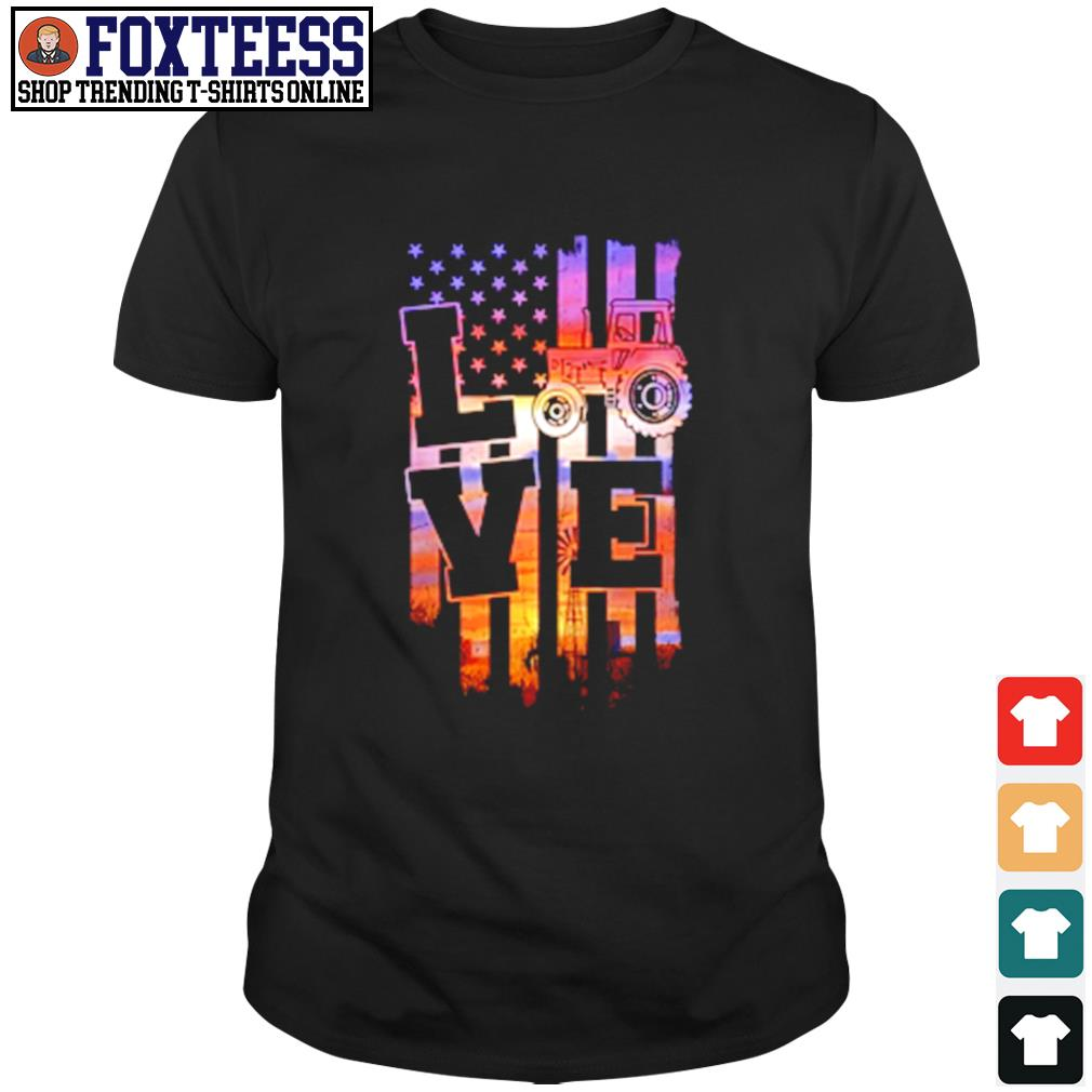 Love american flag shirt