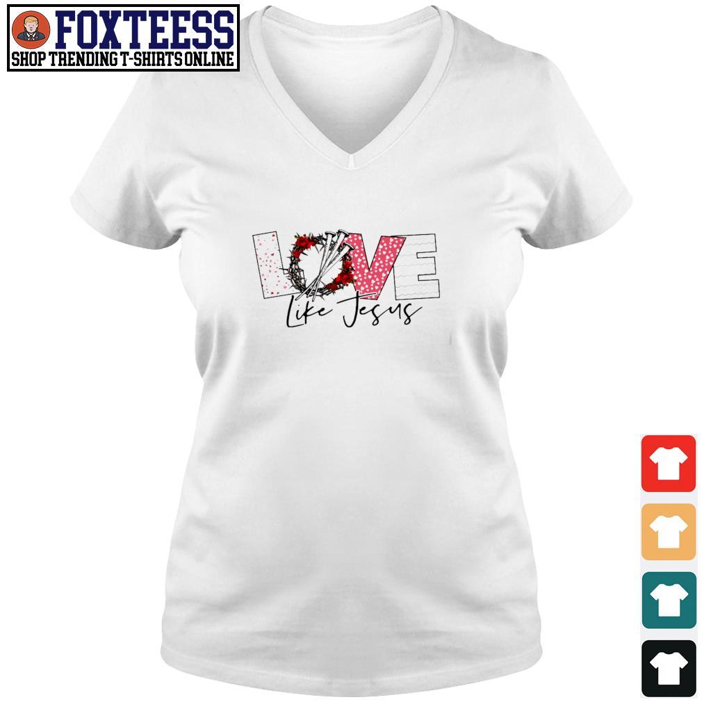 Love life jesus s v-neck t-shirt