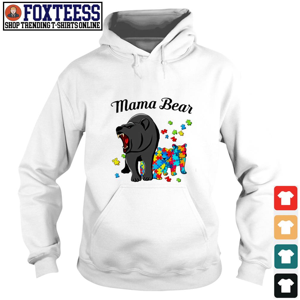 Mama bear protect child autism s hoodie