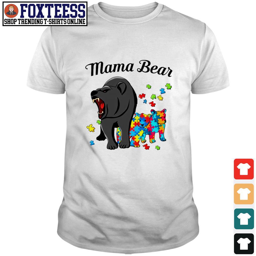 Mama bear protect child autism shirt