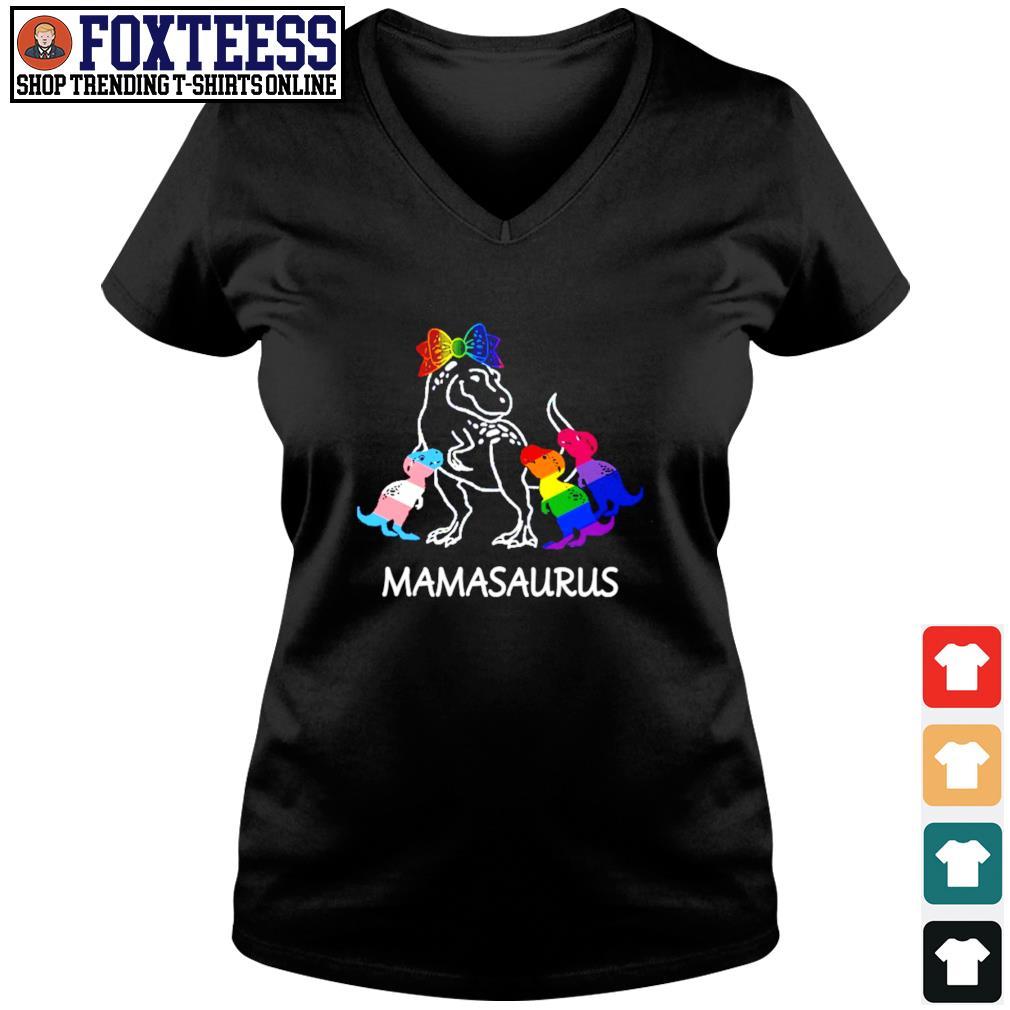 Mamasaurus lesbian gay bisexual son s v-neck t-shirt