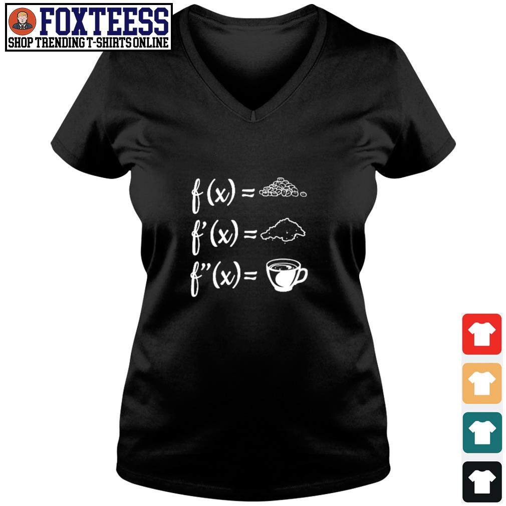 Math and coffee s v-neck t-shirt