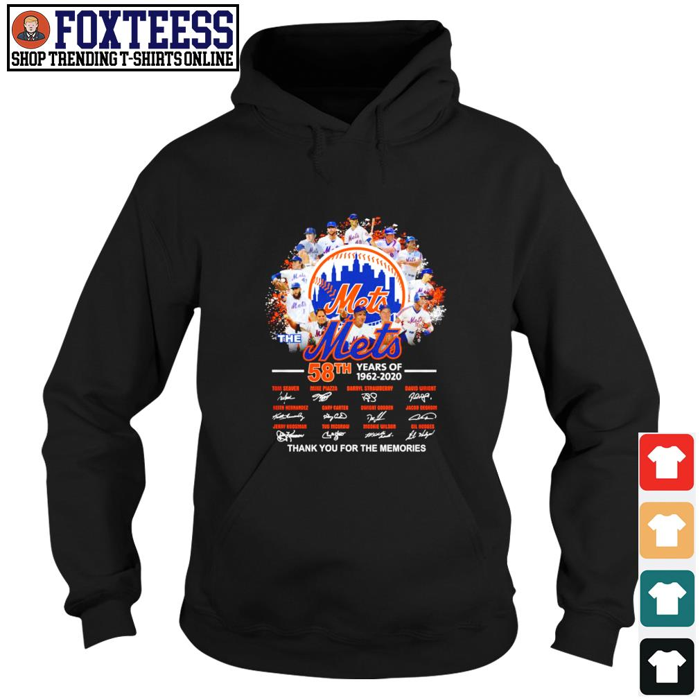 Mets 58th years of 1962 2020 thank you for the memories s hoodie