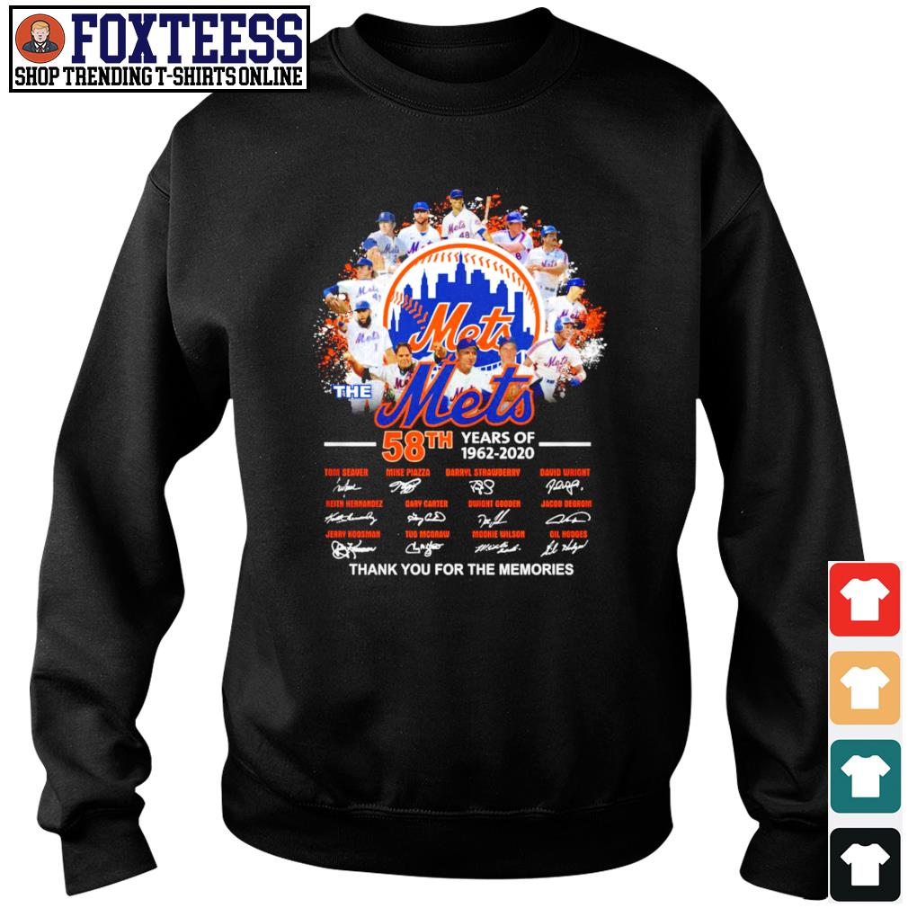 Mets 58th years of 1962 2020 thank you for the memories s sweater