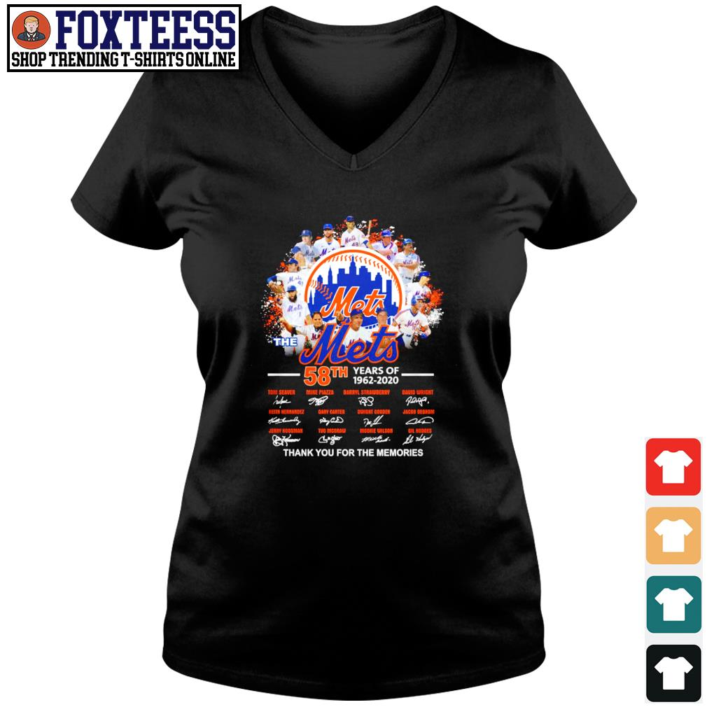 Mets 58th years of 1962 2020 thank you for the memories s v-neck t-shirt