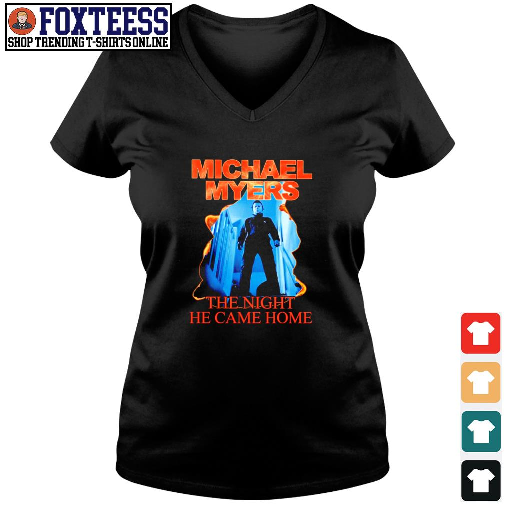 Michael myers the night he came home s v-neck t-shirt