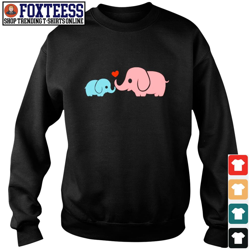 Mother and baby elephant love s sweater