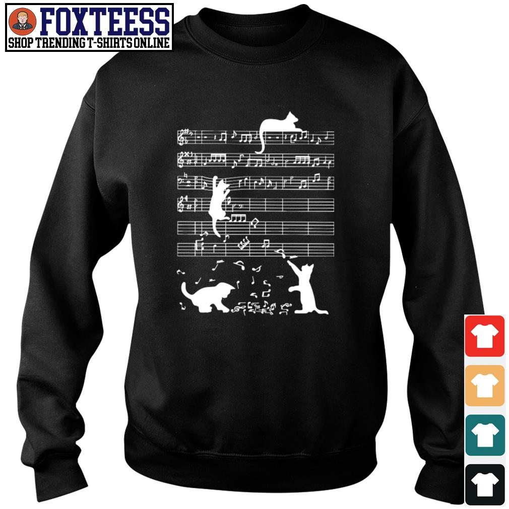 Musical notation cat s sweater