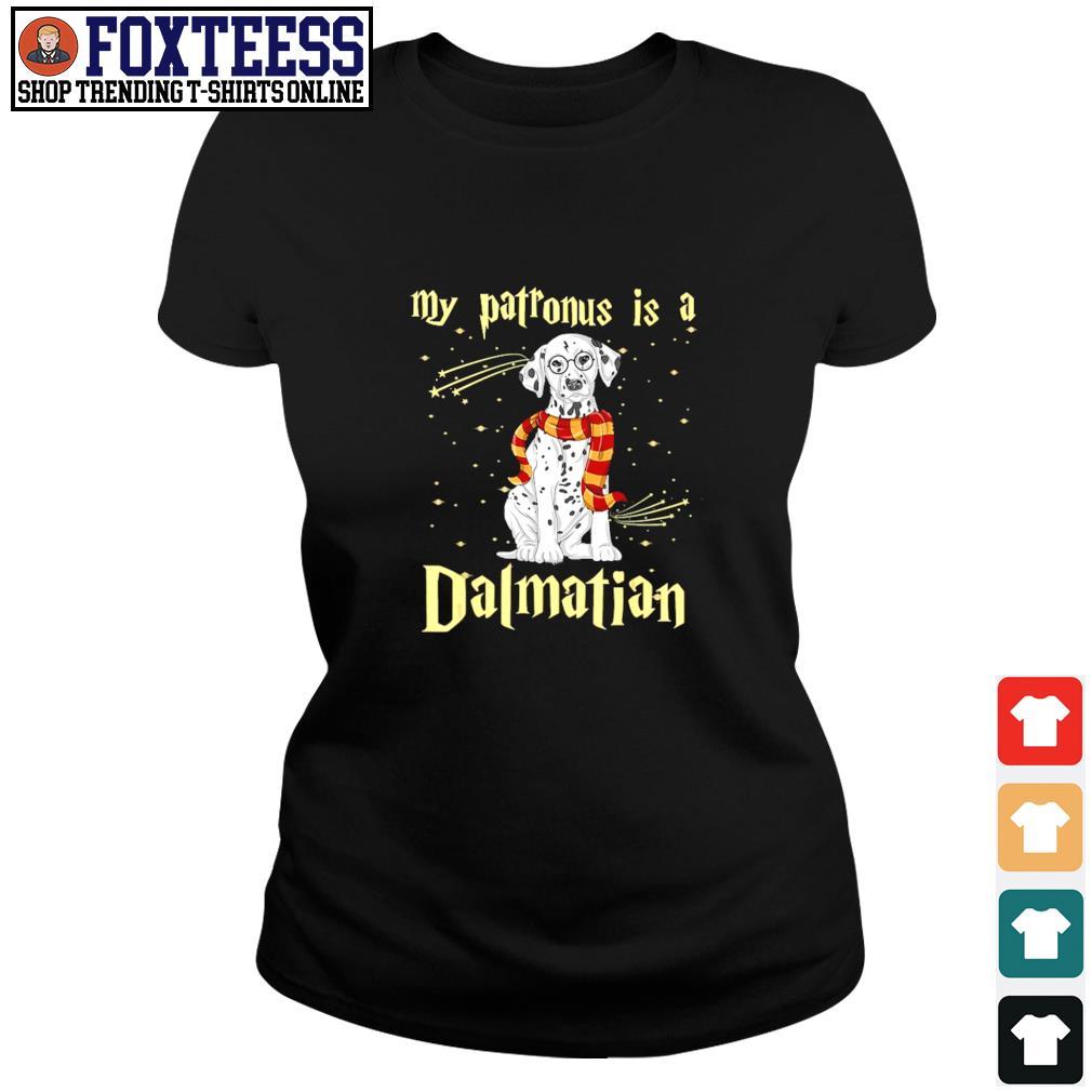 My patronus is a dalmatian christmas s ladies-tee