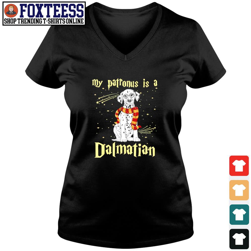 My patronus is a dalmatian christmas s v-neck t-shirt