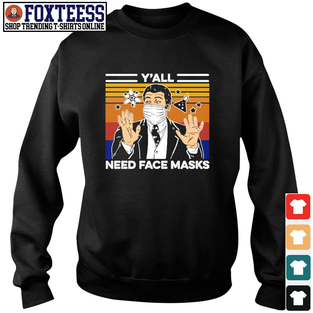 Neil tyson y'all need face masks vintage s sweater