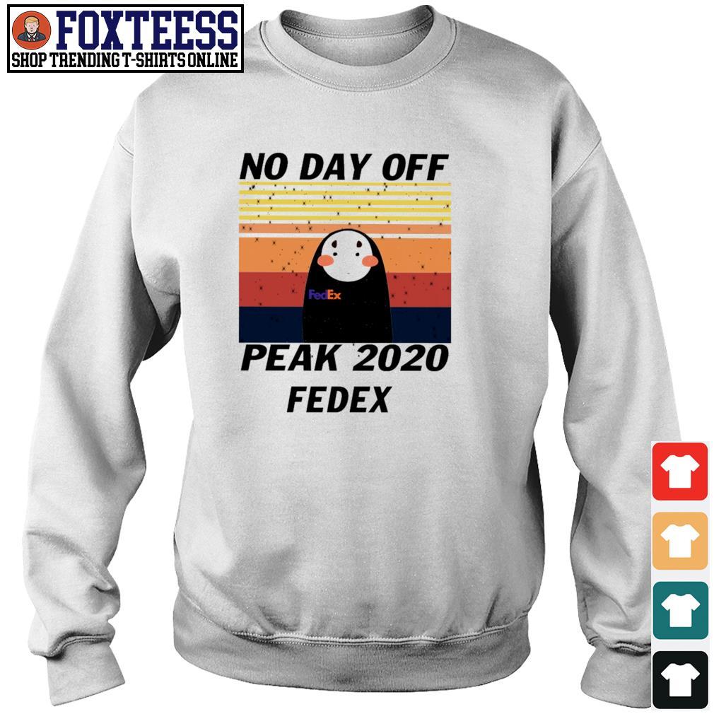 No-face no day off peak 2020 fedex vintage s sweater