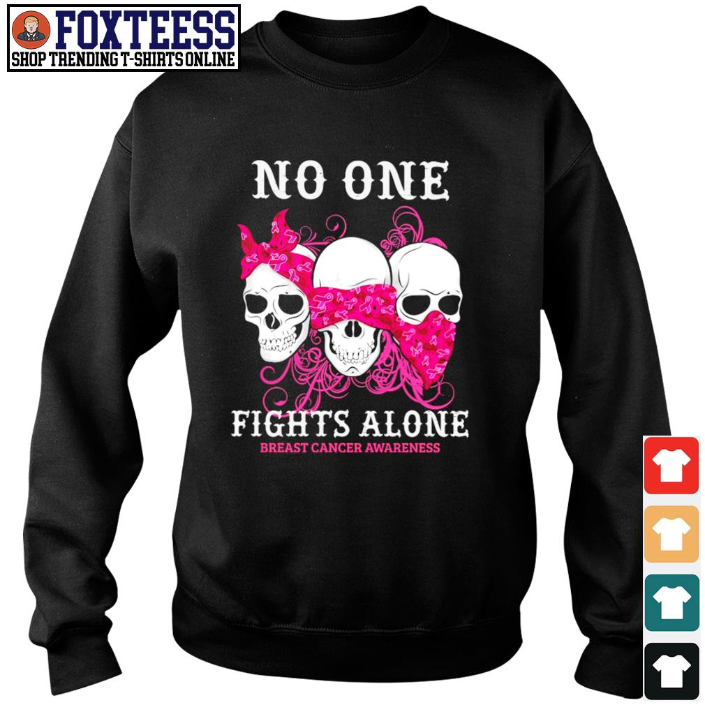 No one fights alone breast cancer awareness s sweater