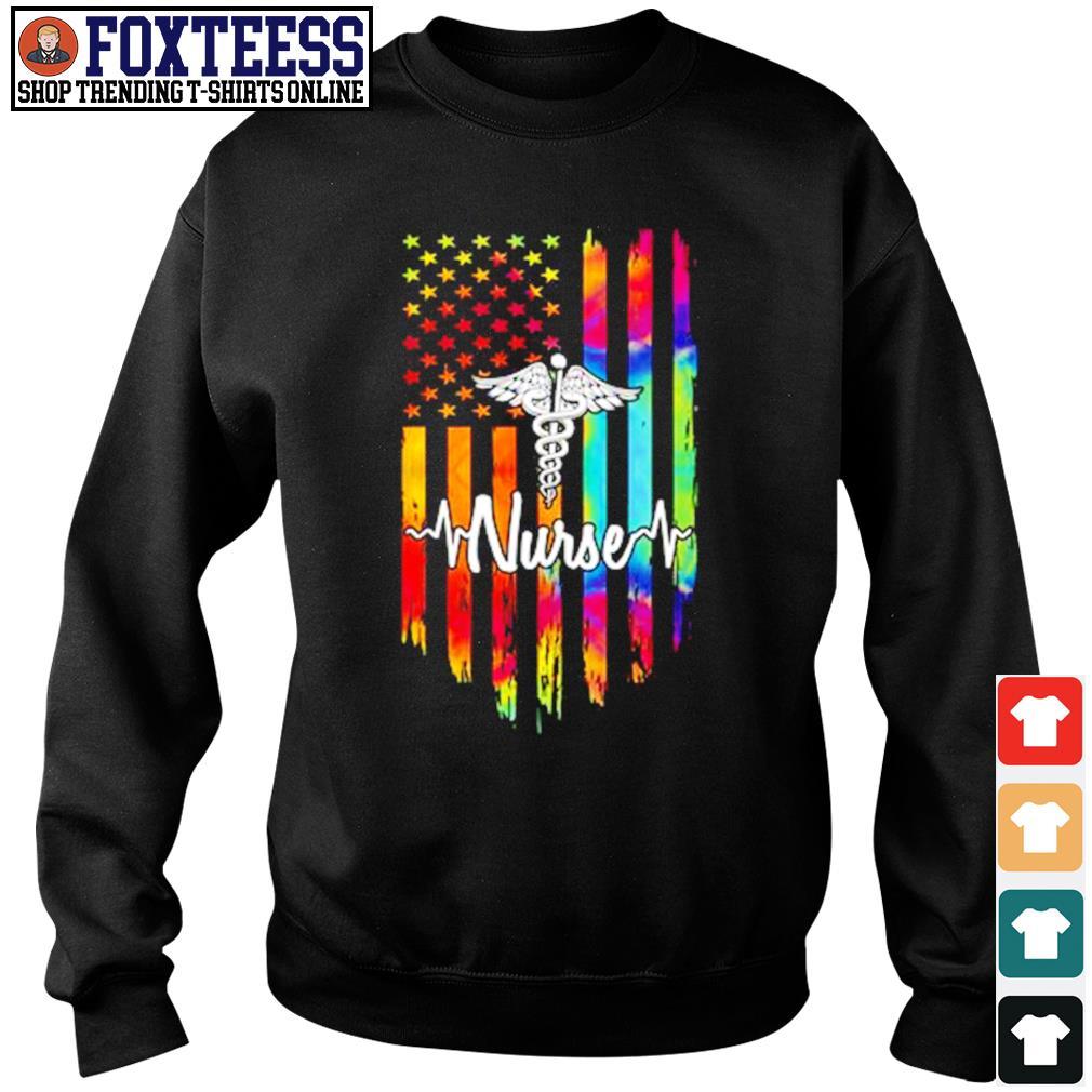 Nurse american flag color s sweater