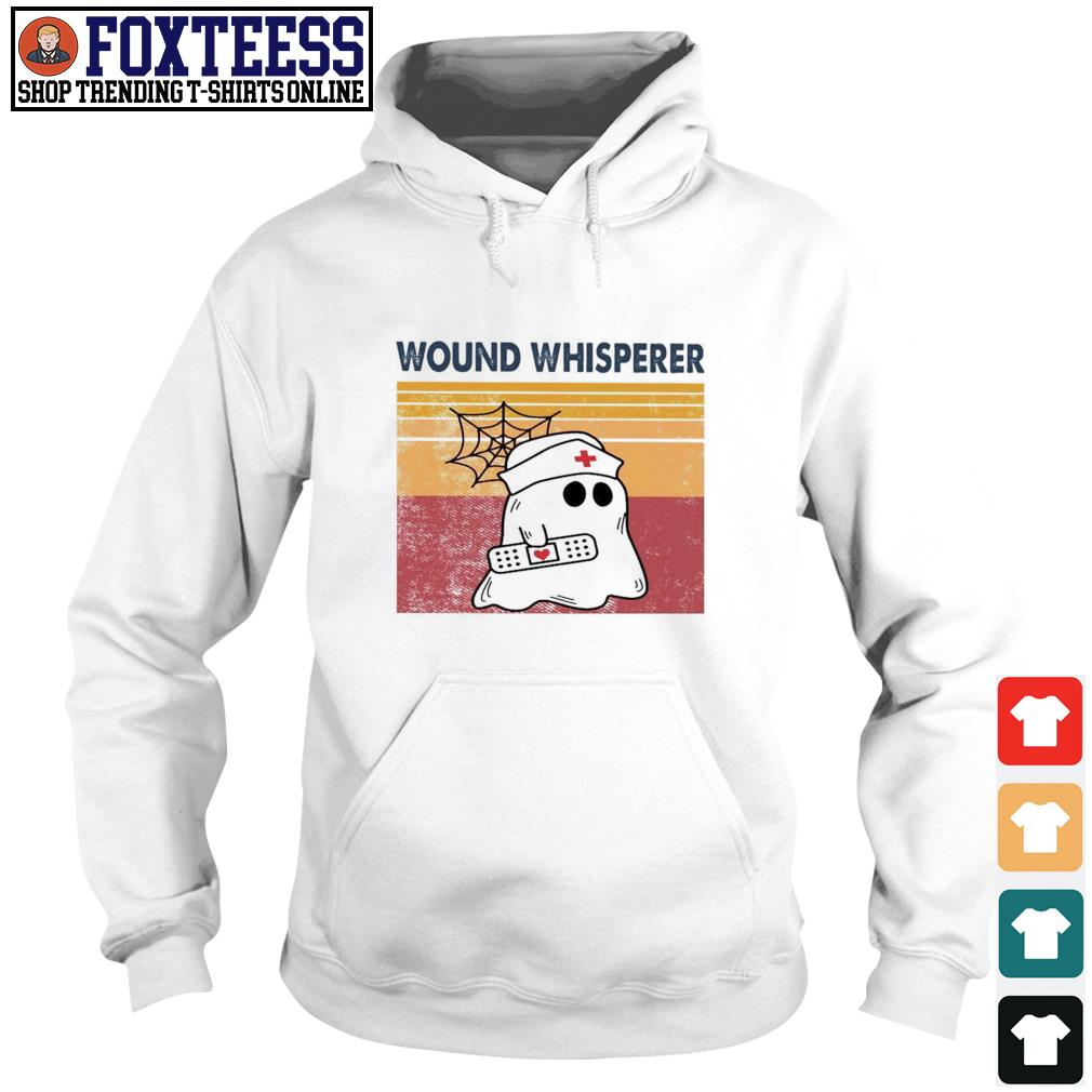 Nurse ghost wound whisperer vintage s hoodie