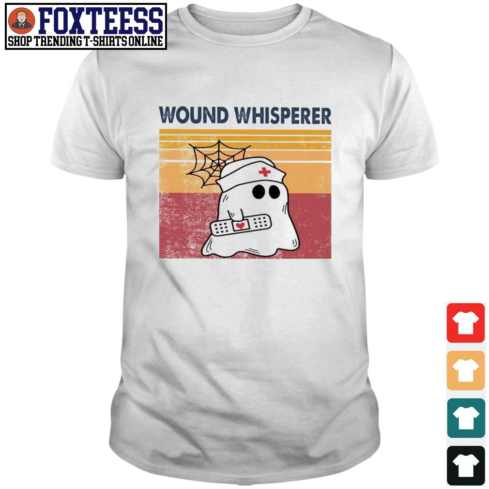 Nurse ghost wound whisperer vintage shirt