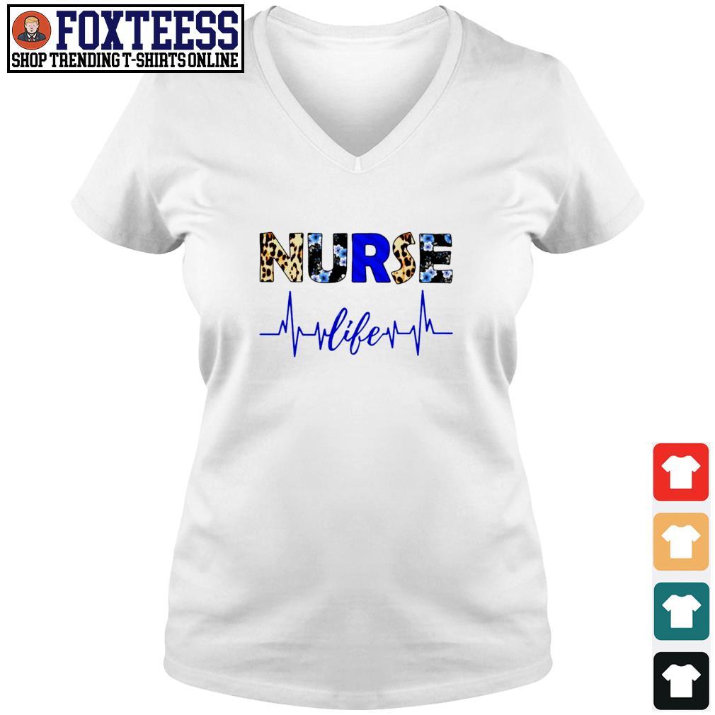 Nurse life heartbeat s v-neck t-shirt
