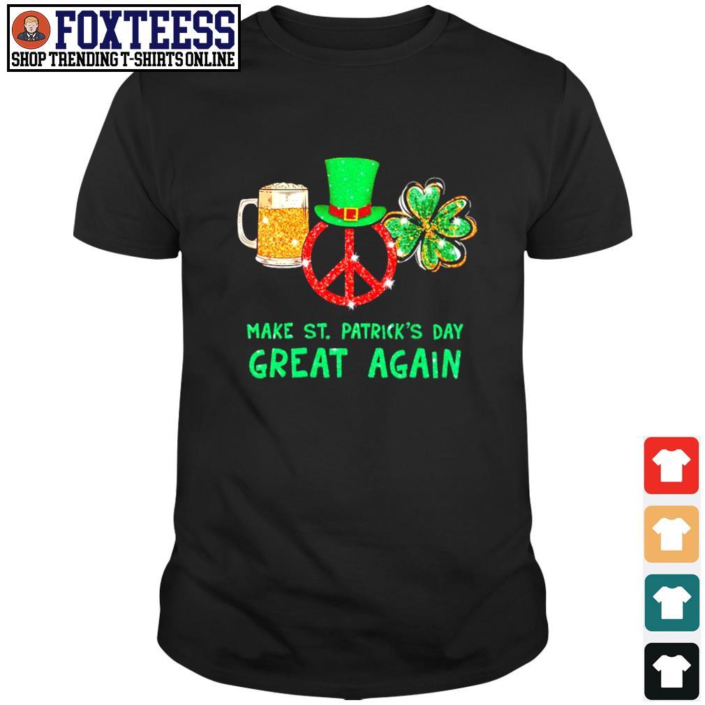 Peace love bear make st patrick's day great again shirt