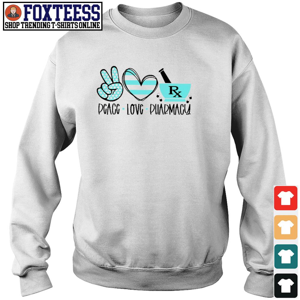 Pharmacist peace love pharmacy s sweater