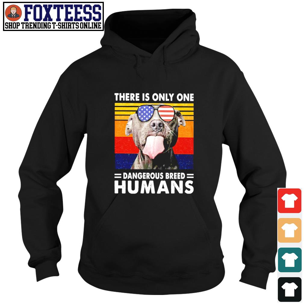 Pitbull there is only one dangerous breed humans american flag s hoodie