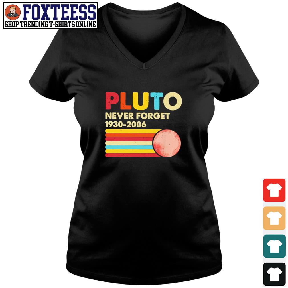 Pluto never forget 1930 2006 s v-neck t-shirt