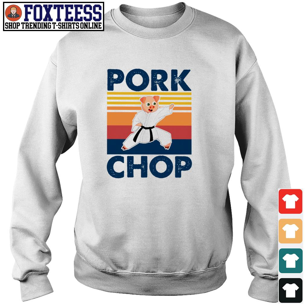 Pork chop pig karate vintage s sweater