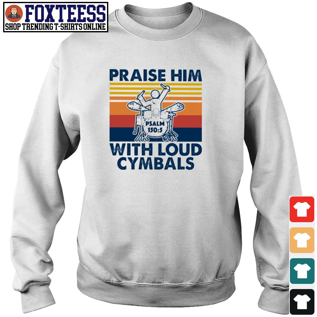 Praise him with loud cymbals vintage s sweater