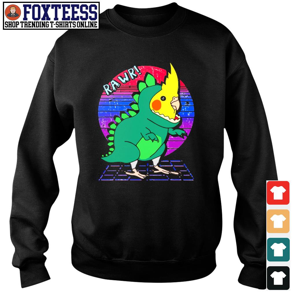 Rawr dinosaur parrot vintage s sweater