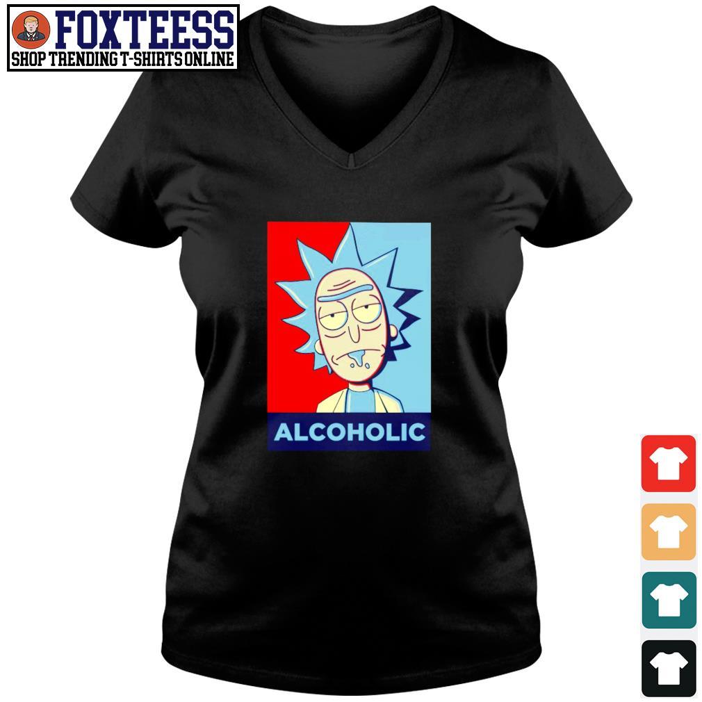 Rick sanchez alcoholic s v-neck t-shirt