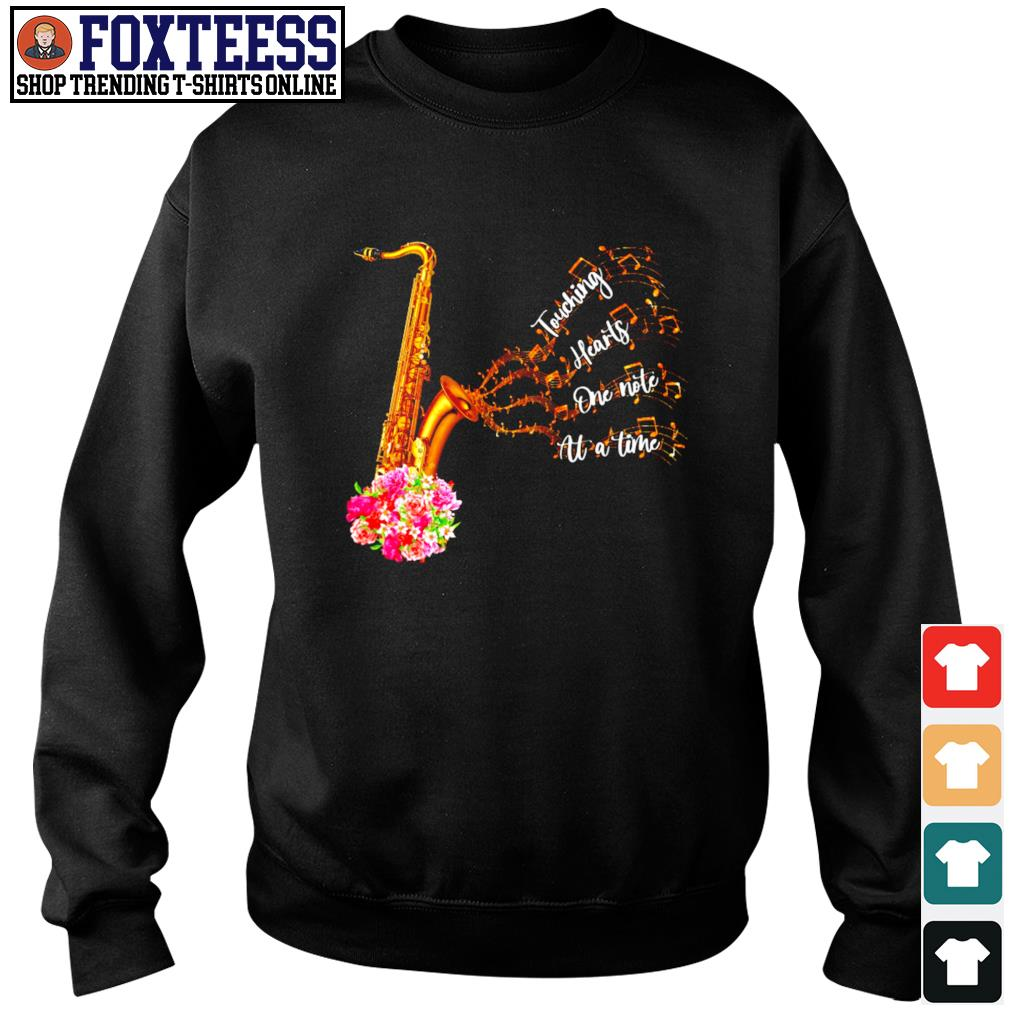 Saxophone touching hearts one note at a time s sweater