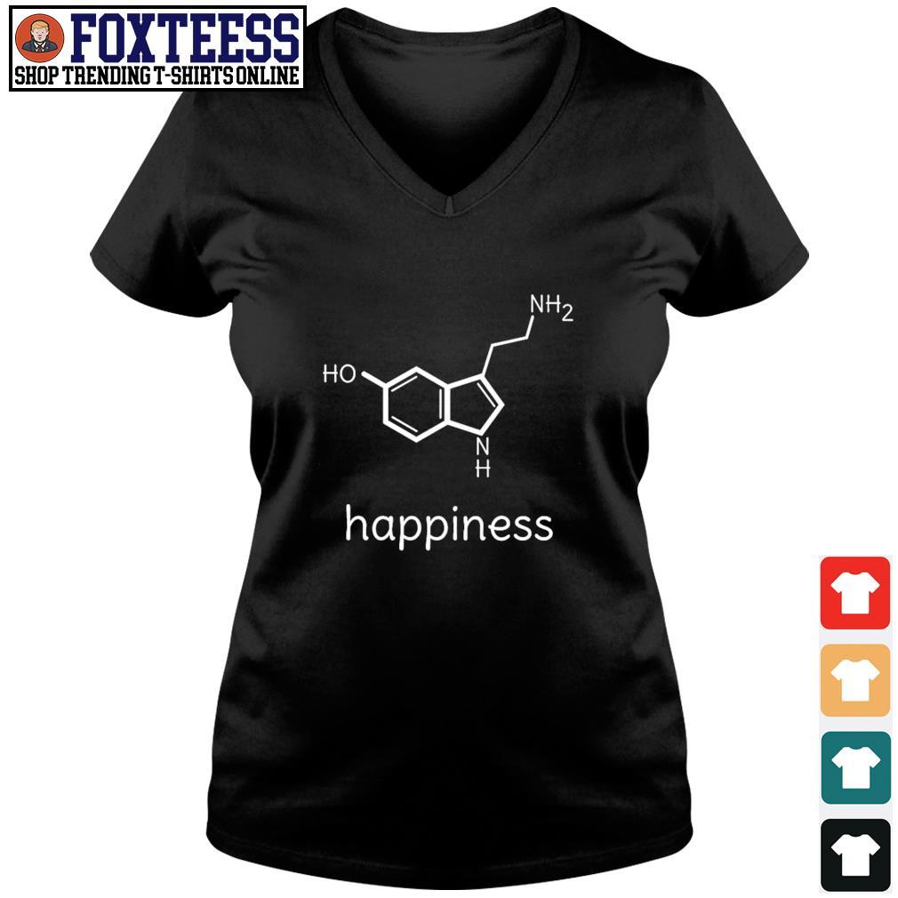 Serotonin happiness s v-neck t-shirt
