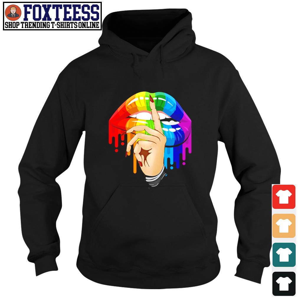 Shut the fuckup rainbow lips LGBT s hoodie