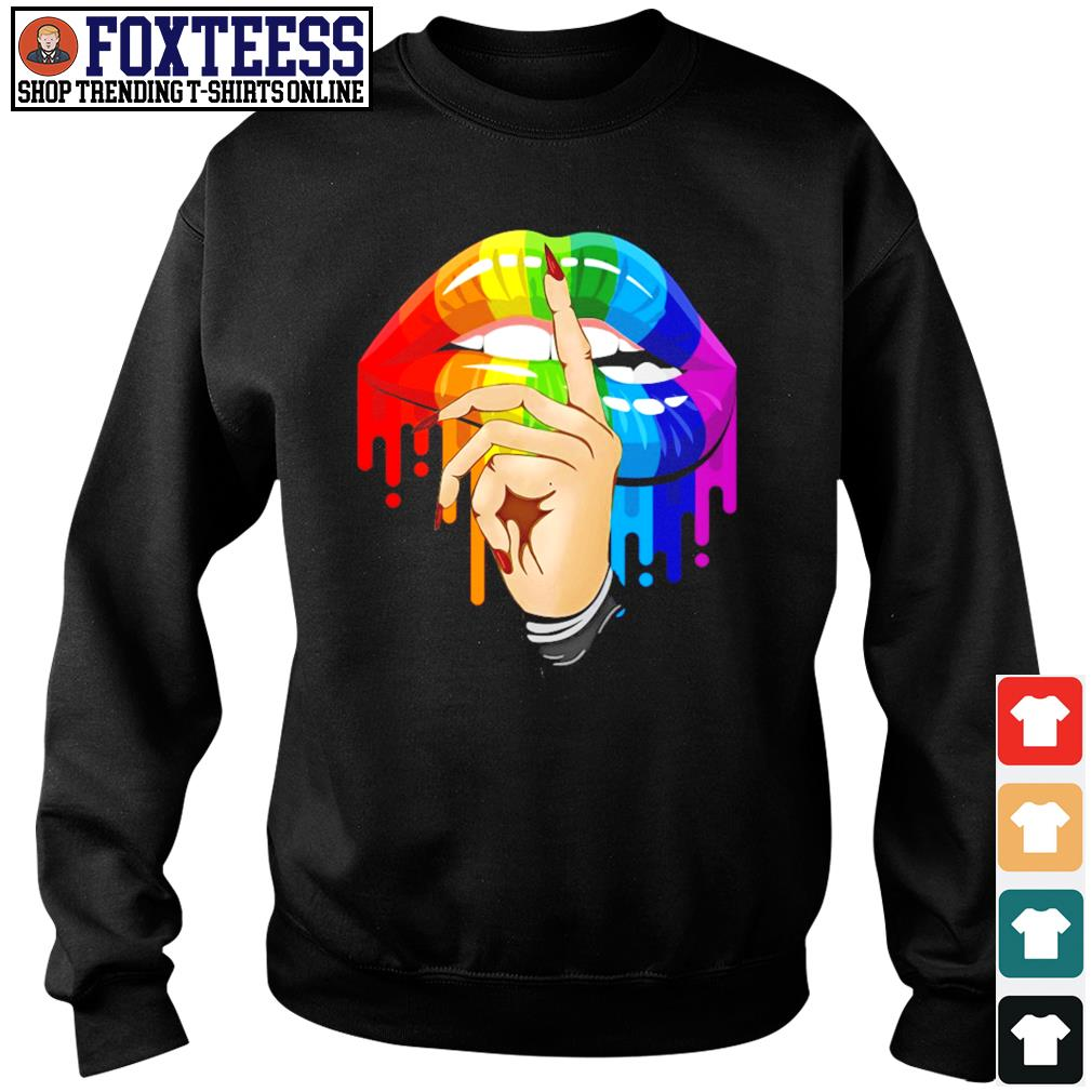 Shut the fuckup rainbow lips LGBT s sweater