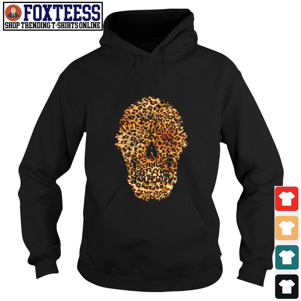 Skull leopard sunflower s hoodie