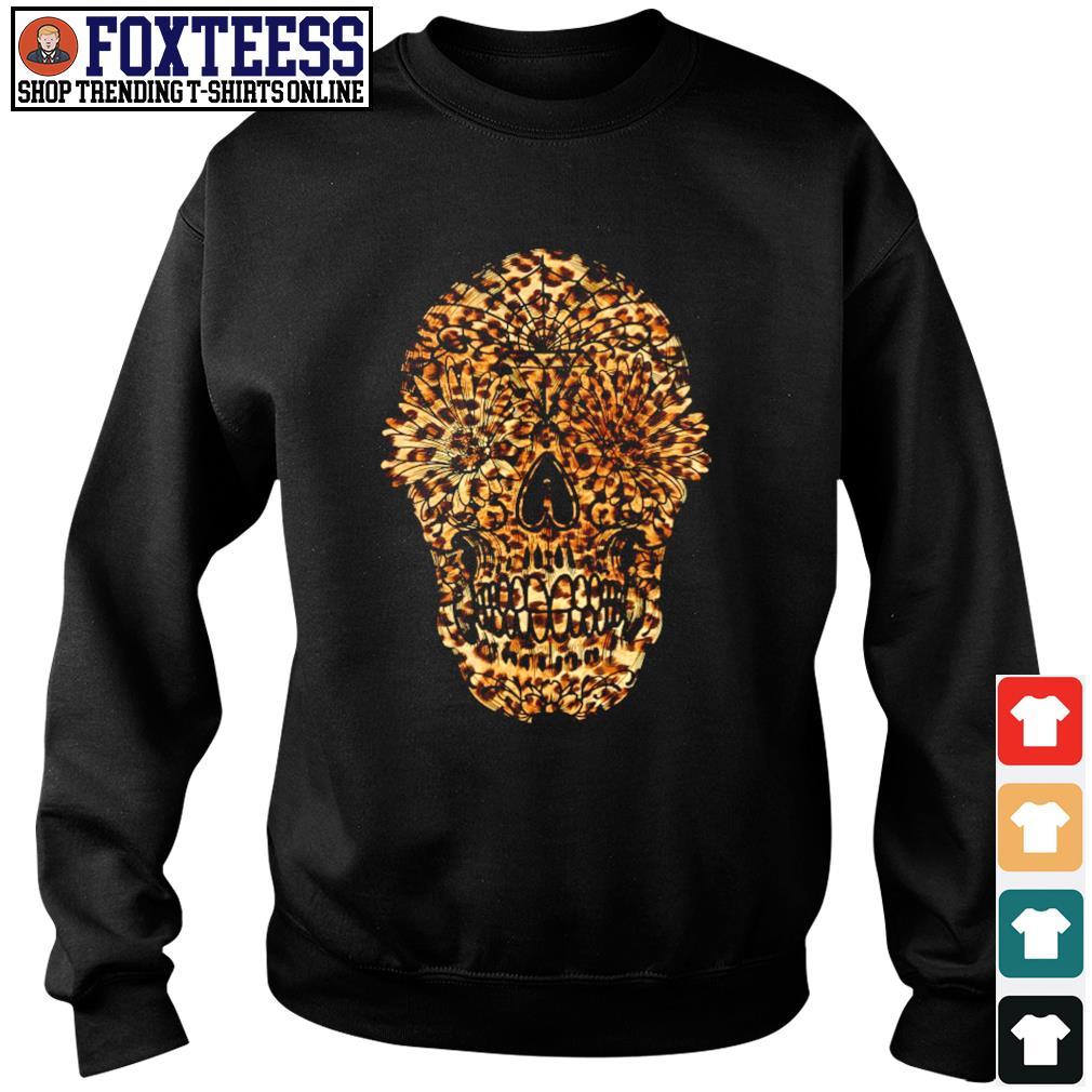 Skull leopard sunflower s sweater