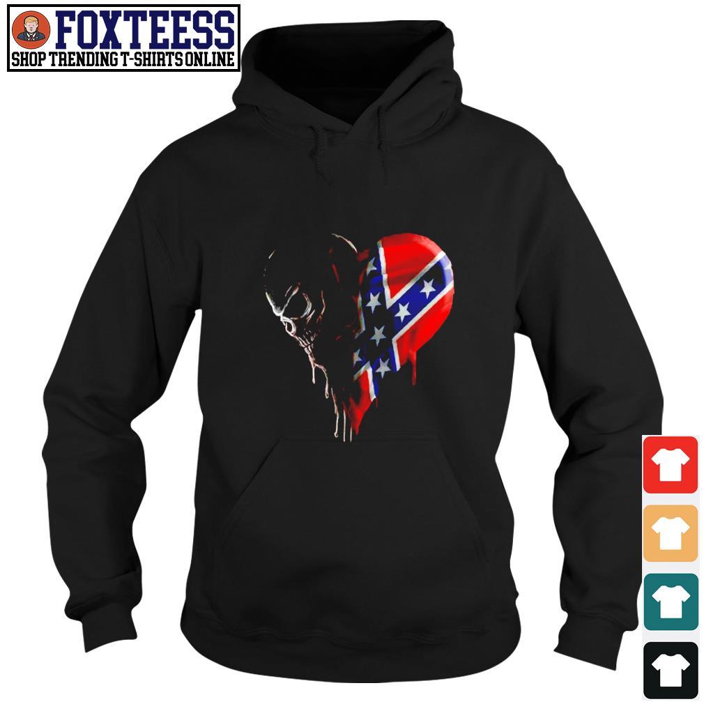 Skull love american flag s hoodie