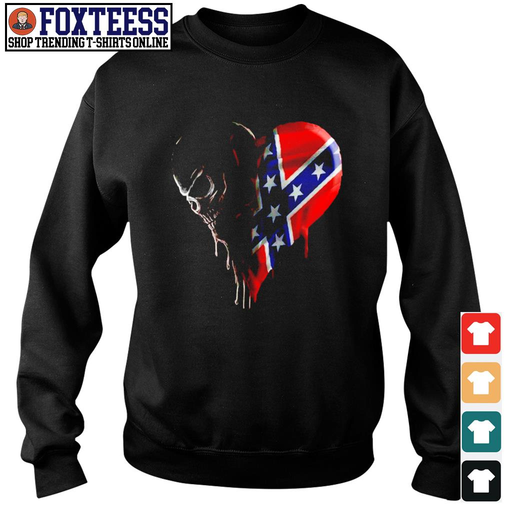 Skull love american flag s sweater